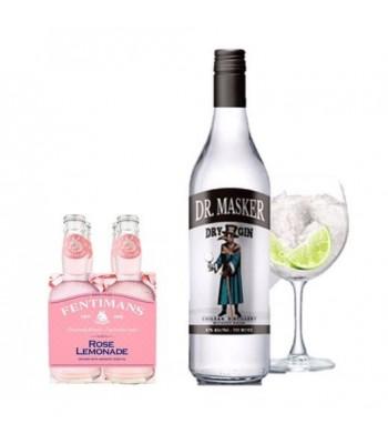 Pack Dr. Masker Dry Gin + Fentimans 4-Pack Rose Lemonade