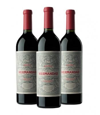 Hermandad - Malbec 2017 Premium Wine - Pack x3 Botellas