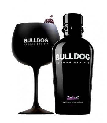 Gin Bulldog 750cc + Copa Negra Bulldog
