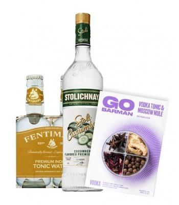 Vodka Stoli Pepino + 4pack...
