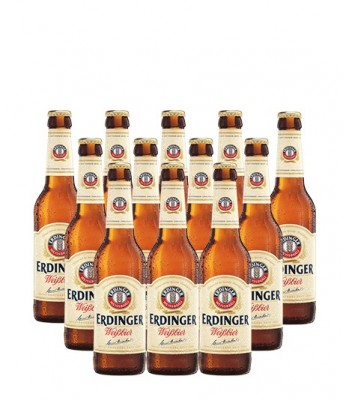 Cerveza Erdinger Weissbier 330cc x12 - Con Vaso Erdinger de Regalo!!