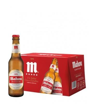 Cerveza Mahou 5 estrellas 330cc x24