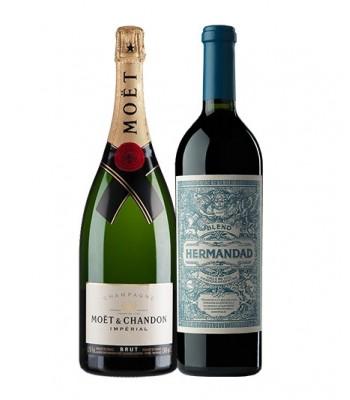 Pack Champagne Moët & Chandon Impérial C/E + Vino Hermandad