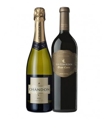 Pack Espumante Chandon + Vino Gran Corte