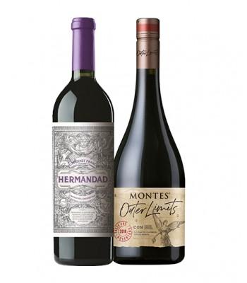 Pack 2x Premium Hermandad + Montes Outer Limits Premium Wines