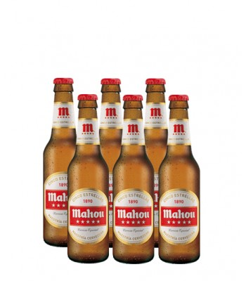 Cerveza Mahou 5 Estrellas 330cc - 6x Pack
