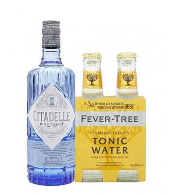 Gin Citadelle de Francia 750cc + 4pack Fever Tree Indian Tonic
