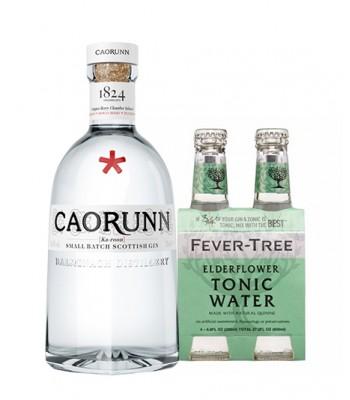Gin Caorunn de Escocia 750cc + 4Pack Fever Tree Elderflower (Sauco)