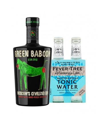 Green Baboon de Rusia 750cc + 4pack Fever Tree Mediterranean