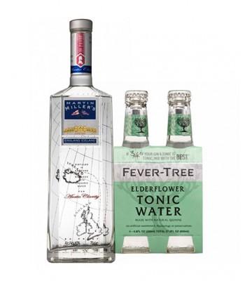Martin Miller´s Gin + 4Pack Fever Tree Elderflower (Sauco)