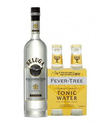 Vodka Tonic Premium (Beluga + 4Pack Fever Tree Indian Tonic)