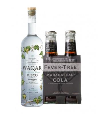 Piscola Premium (Waqar + 4Pack Fever Tree Cola)