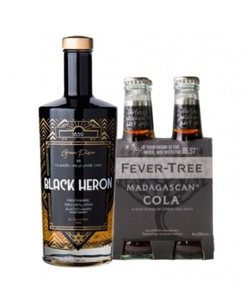Piscola Premium (Black Heron + 4Pack Fever Tree Cola)