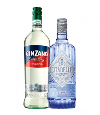 Pack Dry Martini (Gin Citadelle + Cinzano Vermouth Extra Dry)