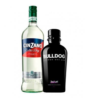 Pack Dry Martini (Gin Bulldog + Cinzano Vermouth Extra Dry)