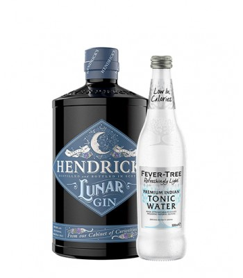 Gin Hendricks Lunar 700cc + Fever Tree Indian Light Tonic 500cc