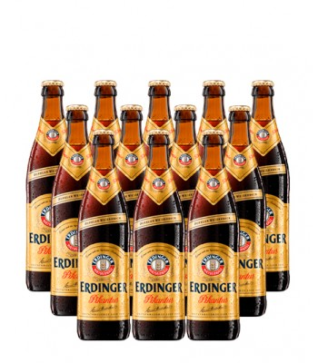 Cerveza Erdinger Pikantus Dark Bock 500cc x12 - Con Vaso Erdinger de Regalo!!