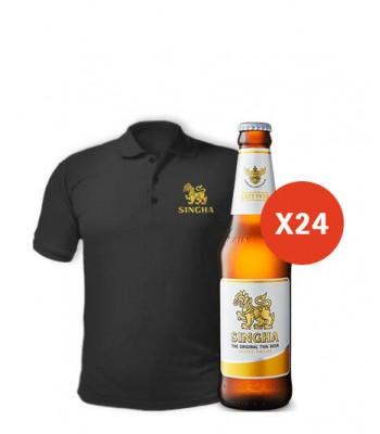 Cerveza Singha 330cc x24 + Polera de Regalo