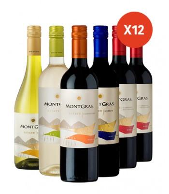 Pack x12 Vinos Varietales...