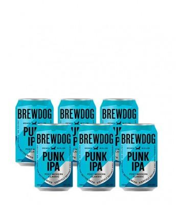 Cerveza Brewdog Punk IPA - Pack x 6 latas 330cc