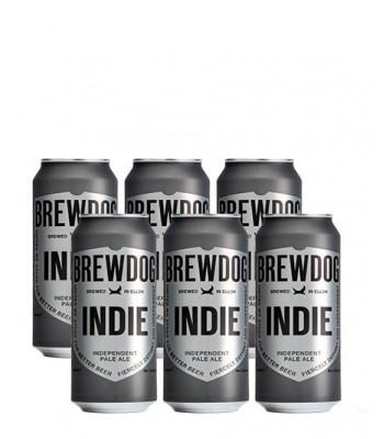 Cerveza Brewdog Indie Pale Ale - Pack x6 latas de 500cc