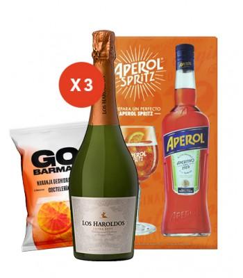 Aperol + Copa de Regalo + 3 Espumantes + Naranja Deshidratada