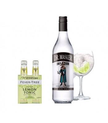Pack Dr. Masker Dry Gin + Fever-Tree 4 Pack Sicilian Lemon